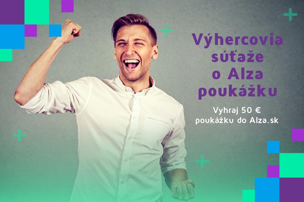 """Výhercovia súťaže """"Vyhraj 50 € poukážku do Alza.sk"""" za mesiac október 2020"""